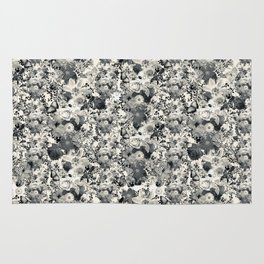 FLORAL Black and white // LIFE OF FLOWERS Rug