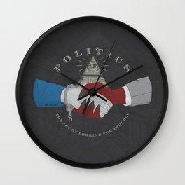 The Art of Politics Wall Clock