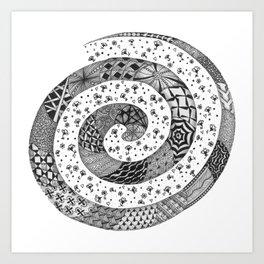 Zentangle®-Inspired Art - ZIA 47 Art Print