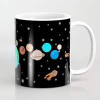 solar system Mugs featuring Solar System  by Gary Wood