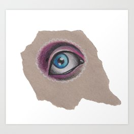 all just eyes If Art Print