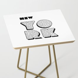 New York in writing Side Table
