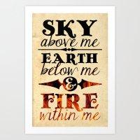 Sky Earth Fire Art Print