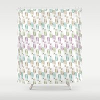 drink Shower Curtains featuring Drink me! by Brocoli ArtPrint