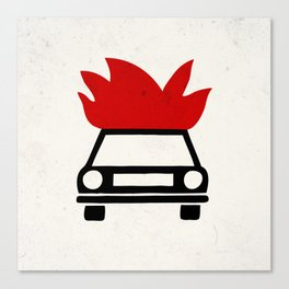 the car's on fire Canvas Print