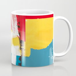 Red, yellow and blue abstract painting Coffee Mug