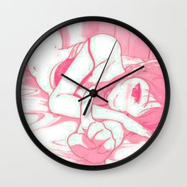 Sexy anime aesthetic - Good morning Wall Clock