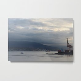 Vancouver Harbour and Seabus Metal Print