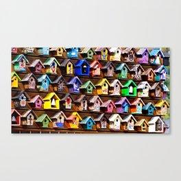 Urban Sprawl of Bird Houses Canvas Print