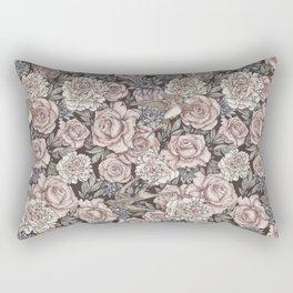 Flowers & Swallows Rectangular Pillow