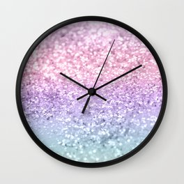 Unicorn Girls Glitter #1 #shiny #pastel #decor #art #society6 Wall Clock