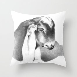 Anglo Nubian Buck Kid 2 Throw Pillow