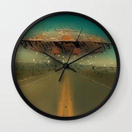 UFO Road Wall Clock