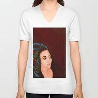 headdress V-neck T-shirts featuring headdress by Rory Eastman
