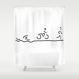triathlon triathlet Shower Curtain