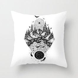 Sun vs Moon Throw Pillow