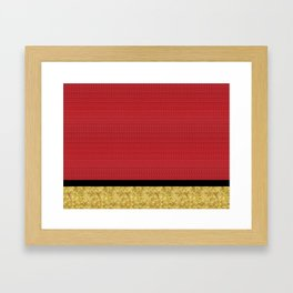 Red and Gold Framed Art Print