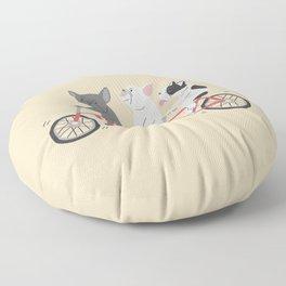 tandem bike Floor Pillow