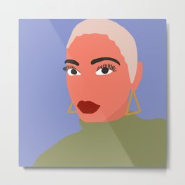 Black Woman /// pencilmeinstationery.com Metal Print