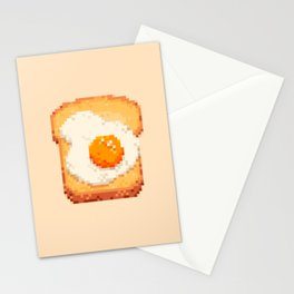 EGG ON BREAD Stationery Cards