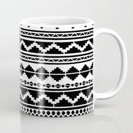 (N12) Moroccan Vintage Black and White Ethnic Artwork. Coffee Mug