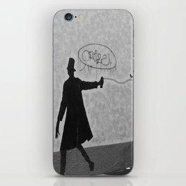 a man, a bird and a cat iPhone Skin