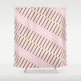 Japanese Chocolate Biscuit Sticks Shower Curtain