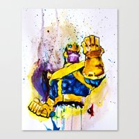 thanos Canvas Prints featuring Thanos by hbCreative