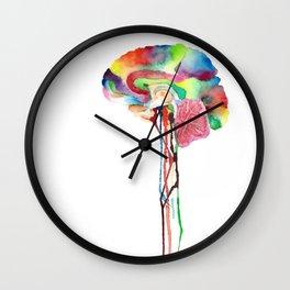 Colorful Brain Wall Clock