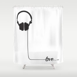 For the love of music 2.0 Shower Curtain