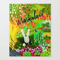 alice wonderland Canvas Prints featuring Wonderland by Invisible Machinery