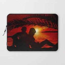 Silhouette Pair Sunset Tree Longing Love Laptop Sleeve
