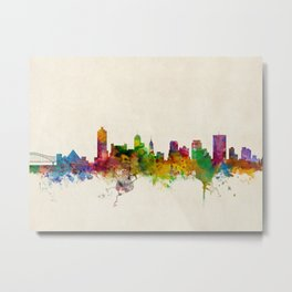 Memphis Tennessee Skyline Cityscape Metal Print