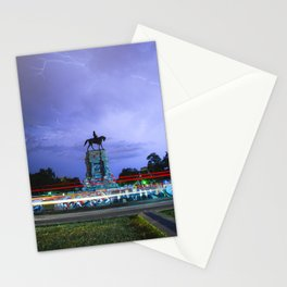 vertical: Lightning Over Marcus David Peters Circle Stationery Cards