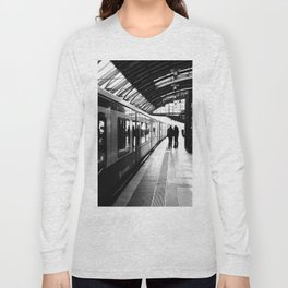 S-Bahn Berlin black and white photo Long Sleeve T-shirt
