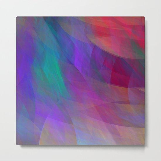Color flames, artistic fractal abstract Metal Print