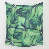android Wall Tapestries featuring Palm Leaf Print by Jenna Davis Designs