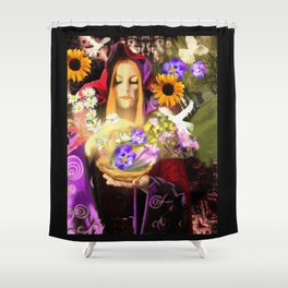 Invocating Summer Shower Curtain