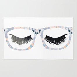 Glasses and Lashes (aka Nerdy and Flirty) Rug