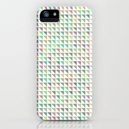 edge of autumn geometric pattern iPhone Case