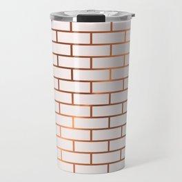 Copper Subway Tiles Travel Mug