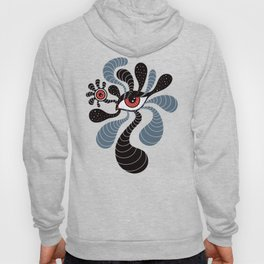 Abstract Surreal Double Red Eye Hoody
