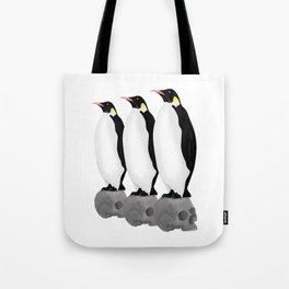 Penguins Standing Guard Tote Bag