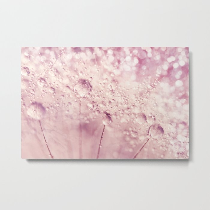 Dandy in Sparkling Pink Metal Print