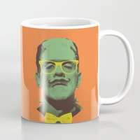 frank Mugs featuring Mr Frank by Victor Vercesi