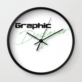 Graphic Designer Wall Clock