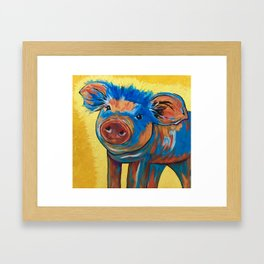 This little piggy! Framed Art Print