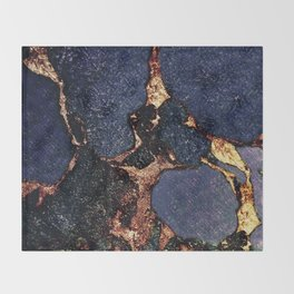 INDIGO & GOLD GEMSTONE Throw Blanket