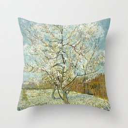 Vincent Van Gogh Peach Tree In Blossom Throw Pillow