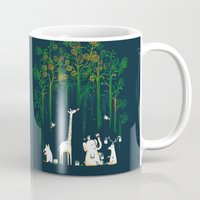 forest Mugs featuring Re-paint the Forest by Picomodi